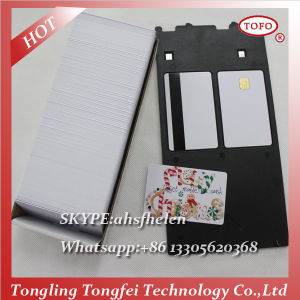 High Quality PVC Blank Chip Card for Inkjet Printer pictures & photos