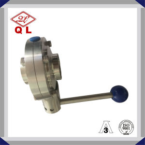 High Quality, Clamped Stainless Steel DIN Sanitary Butterfly Valve pictures & photos