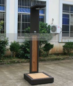 Outdoor Swimming Pool Wicker Rattan Shower (MTC-119) pictures & photos