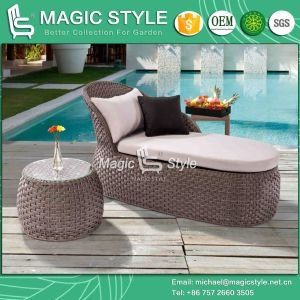 New Design Swan Lounge Rattan Sunlounger Wicker Lounge Wicker Lounge pictures & photos