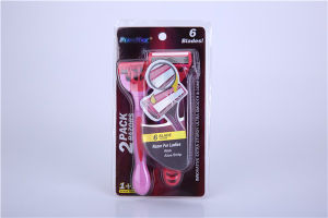 Six Stainless Steel Blade Razor for Women pictures & photos