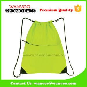 Simple 210d Polyester Drawstring Daypack pictures & photos
