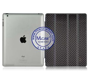 Best Quality Folding Carbon Fiber Smart Cases for iPad 2 3 4 pictures & photos