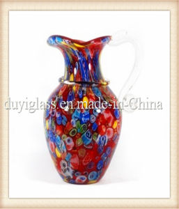 Multicolour Glass Vase for Bar Decoration