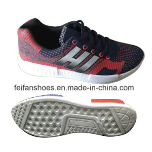 2016 Latest Cheap Men′s Injection Breathable Flyknit Casual Running Shoes Sneaker Jf160605-11 pictures & photos