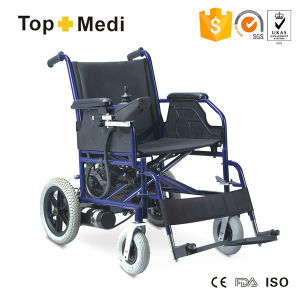 Topmedi Heavy Duty Steel Power Wheelchair with Small Wheels pictures & photos