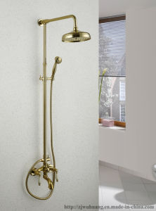 Golden Plated Bathroom Bath Faucet pictures & photos
