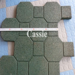 Gym Rubber Tile, Rubber Playground Mat, Colorful Rubber Paver pictures & photos