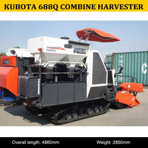 Manufacture of High Quality 68HP Kubota PRO688q Combine Harvester pictures & photos