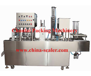 New Style Hot Sale Good Quality Yogurt Cup Filling and Sealing Machine pictures & photos