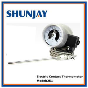 Full Stainless Steel Electric Contact Thermometer with Capillary pictures & photos