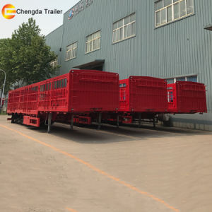 Tri Axles Heavy Duty Cargo Semi Trailer for Truck pictures & photos