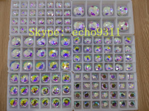 Ab Round Glass Stone with Holes Flat Back Stones pictures & photos