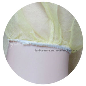 PP+PE Yellow Disposable Isolation Gown with Elastic Cuffs pictures & photos