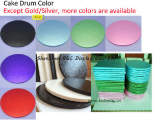 Colorful and Lovely Cake Boars, Cake Drums, Cake Tray, Cake Plates for Cake Shops (B&C-K069) pictures & photos