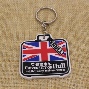 Supply Fashion Cheap Soft PVC Keychain for UK University pictures & photos