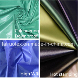 100% Nylon Fabric with PU Coated for Downjacket Fabric pictures & photos