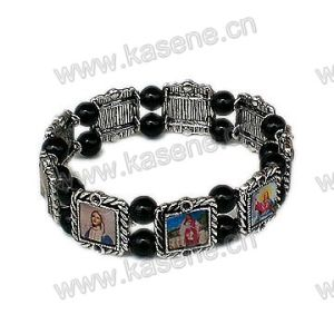Holy Mixed Saint Images Sharp Metal Rosary Bracelet pictures & photos