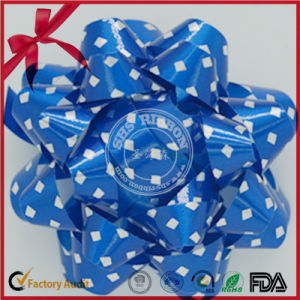 Brown Polka Dotted Color Flowers Ribbon Star Bow pictures & photos