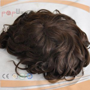 Mono Top Lace Front Under Vent Technology Wavy Mens Toupee pictures & photos