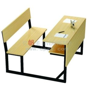Fashion Design School Furniture Student Double Desk&Chair pictures & photos