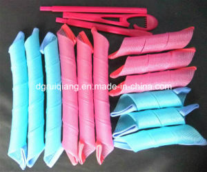 Pink and Blue Large Curling Magic Leverage Hair Curlers Rollers