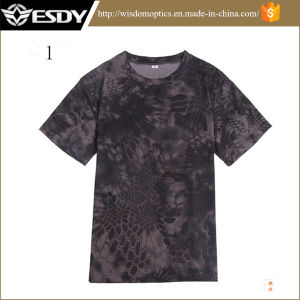 Men′s Hot Camo Breathable Quick-Drying Round Neck Shirt pictures & photos