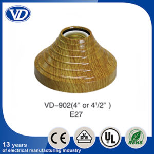 E27 Plastic Copy Wooden Design Wall and Ceiling Rose Lampholder