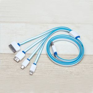 Multi-Functional 4 in 1 Noodle USB Data Cable for Cell Phone pictures & photos