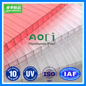 Polycarbonate Sheet 6mm Twin-Wall Hollow Sheet pictures & photos