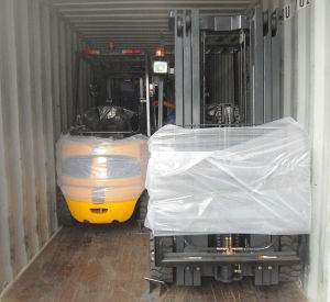 4-Wheel Battery Forklift 3.5T pictures & photos
