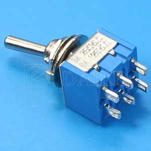 Double Pole 6 Pin on-on 12V Toggle Switch (MTS-202) pictures & photos