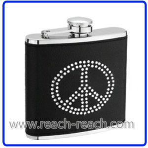 Stainless Steel Hip Flask with Rhinestone (R-HF045) pictures & photos