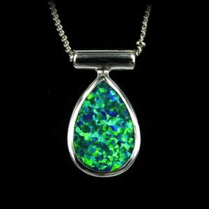 China fashion green fire opal jewelry sterling silver pendant fashion green fire opal jewelry sterling silver pendant charm aloadofball Gallery