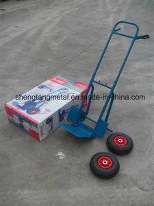 150kg Folding Sack Truck with Pneumatic Tires