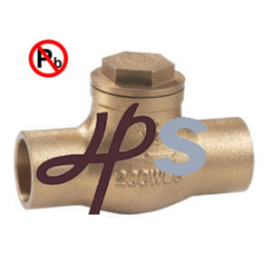 Lead Free Brass or Bronze Swing Check Valve Manufacturer pictures & photos