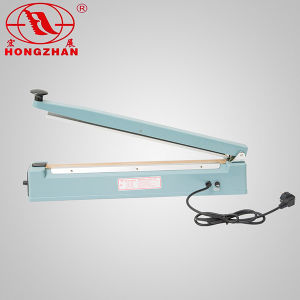 Impulse Hand Sealer for Plastic Film and Kraft Paper with Heat Strip and Knife Cutter pictures & photos