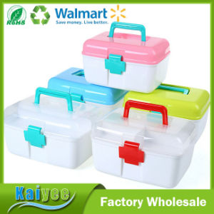 Emergency Medical Care Home Portable Kit Plastic Storage Box pictures & photos