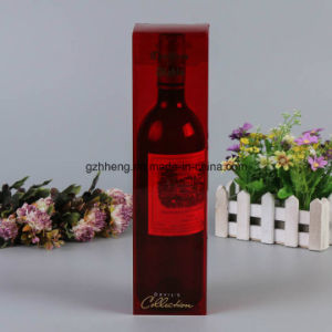 Custom Printed Plastic Paper Box with PVC Window (wine box) pictures & photos