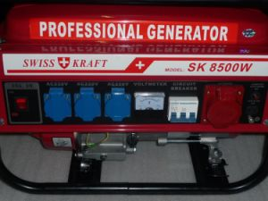 Manufacture 2016 Gasoline Powered 6.5kw 7.5kVA Swiss Kraft Generator pictures & photos