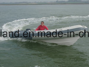Aqualand 16feet 4.7m Rib Motor Boat /Fiberglass Rigid Inflatable Fishing Boat (RIB470A) pictures & photos