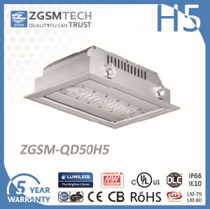 50W IP66 LED Ceiling Recessed Canopy Light for Gas Station pictures & photos