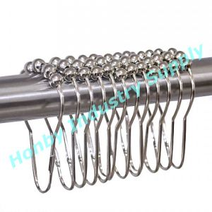 High Quality Stainless Steel Roller Ball Glide Shower Curtain Hooks