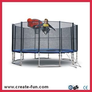 Createfun 15ft Cheap Trampoline with Safety Net