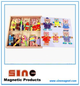 Six Bears Dress up Magnetic Wooden Change Clothes Three-Dimensional Toys pictures & photos