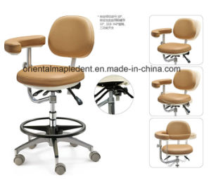 Dental Equipment Dentist Stool with PU or Real Leather pictures & photos