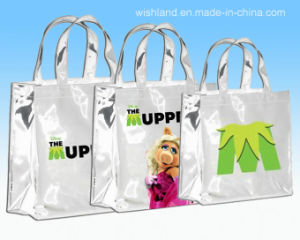 PVC Coating Cotton Gloss Shopping Bag