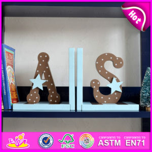 2015 Hot Sale Wood Letters Bookend, Wooden Sujetalibros, Cute Wooden Letters Bookend, Wooden Letters Bookend for Student W08d063 pictures & photos