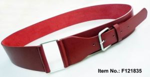 Fashion Red PU Women Belt pictures & photos