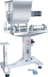 Vertical Single-Head Paste Filler with Mixer pictures & photos